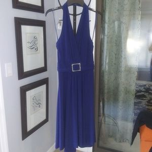 Halter type Marilyn Monroe dress in royal blue